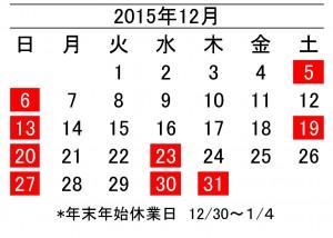 年間カレンダー12