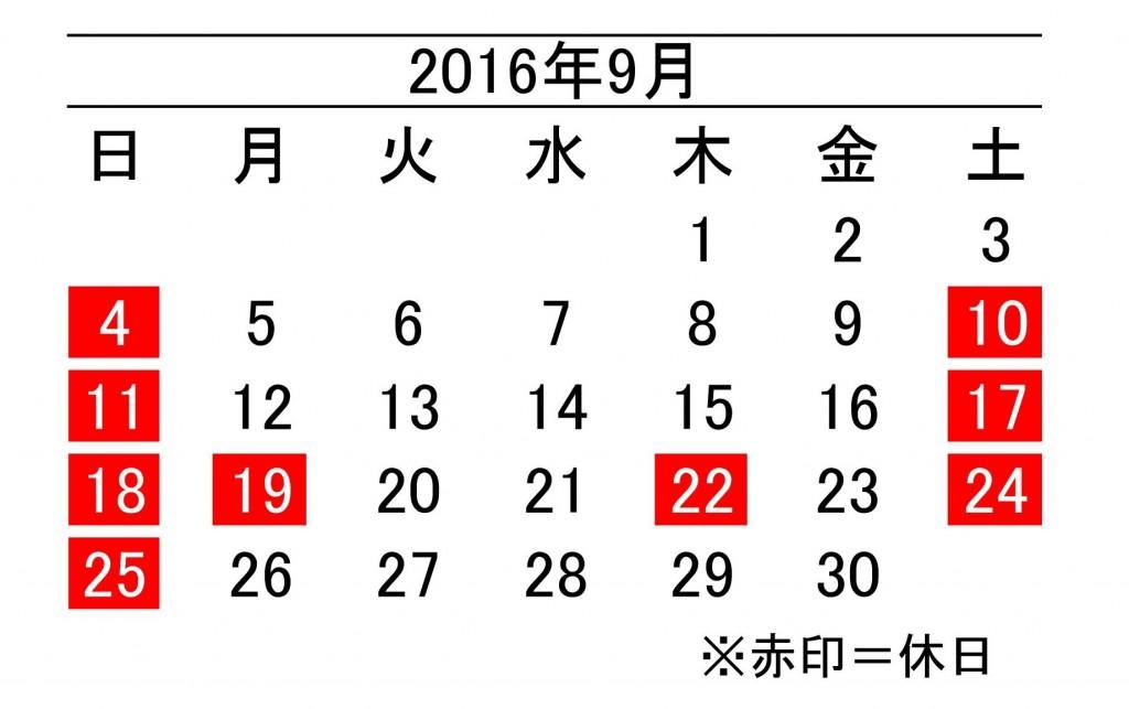 年間カレンダー9